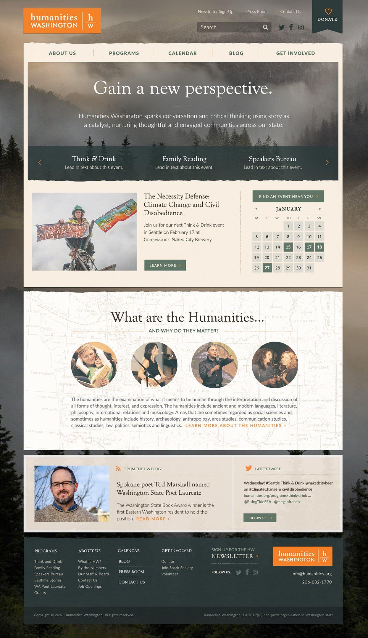 Our Work: Humanities, WA   Web Design, Branding, & Print ...